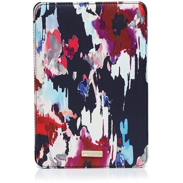 kate spade new york Hazy Floral Folio iPad Mini 2/3 Case ($70) ❤ liked on Polyvore featuring accessories, tech accessories, multi and kate spade