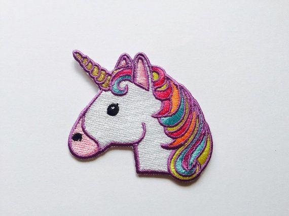 Unicornio parche hierro en apliques bordados parches bordados diseño