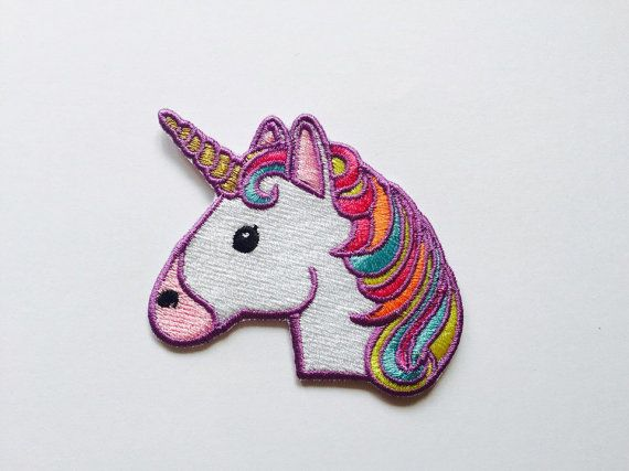 Einhorn-Patch Aufbügeln Applik bestickte Patches Maschine Stickerei Design