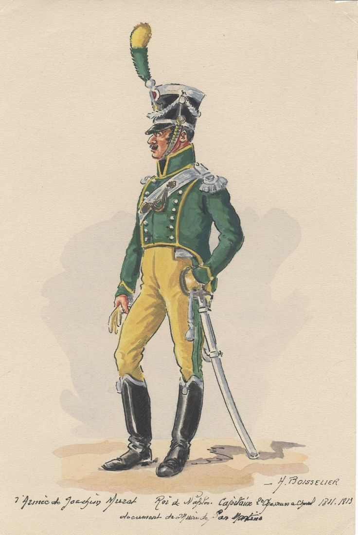 Kingdom of Naples 2nd Regt Chasseurs a Cheval Captain 1811-13.