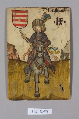 "9, Hungary: Marschalk, (Marshall) in Celje feathers.  Maybe Ulrich of Celje, riding to Ladislaus's ""rescue?"""