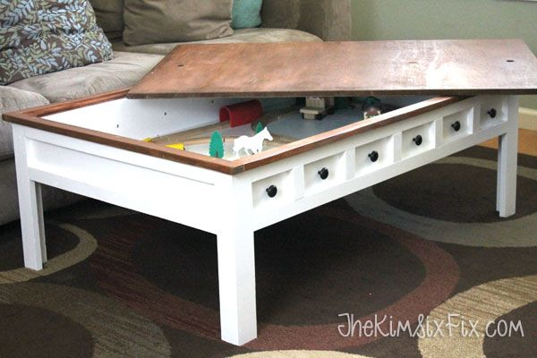 Apothecary Style Coffee Table With Hidden Lego And Train Play Areas Shelves Plays And Lego