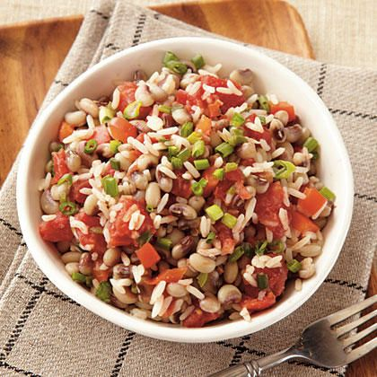 Hoppin' John is said to bring good luck all year when eaten on New Year's Day.