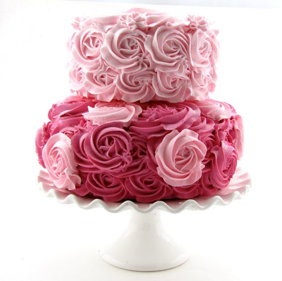 Pink & Hot Pink Rosette Fake Cake Stackable 2 by 12LegsCuriosities, $69.99
