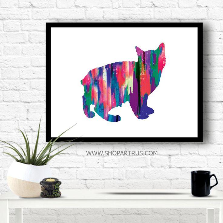 Cat Painting, Cat Illustration, Cat Art Print, Watercolor Cat, Cat Wall Art, Cat Poster, Cat Lover Gift, Nursery Decor, Animal Painting WT46 by artRuss on Etsy
