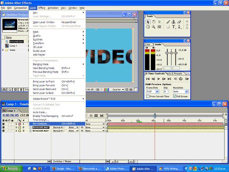 Diseño/Multimedia: Agrupar capas para crear una PRECOMPOSICION