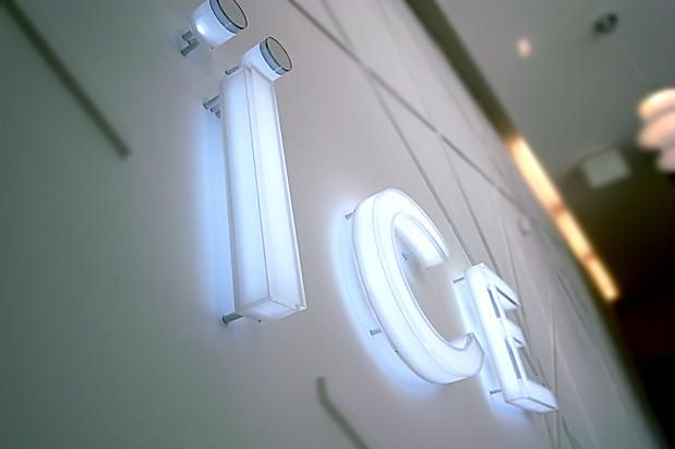 Acrylic formed 3d signage logo internally illuminated by LED  #signage #idea #mirror #sign #wayfinding # donor wall #3dsignage #wayfinding #signage #signs #artsigns #artsignscom #officesigns #signs #wallsigns #mirrormirror #dimensionalsigns #mississauga #toronto #newyork
