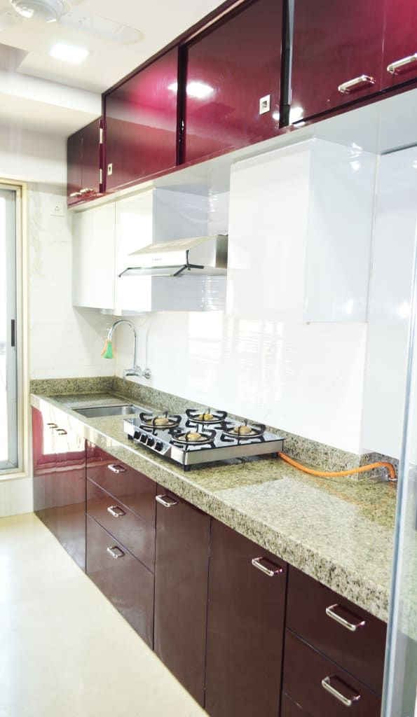Modular Kitchen From An Apartment In Kandivali West Mumbai Modern Kitchen Colours Kitchen Modular Modern Kitchen Cabinet Design