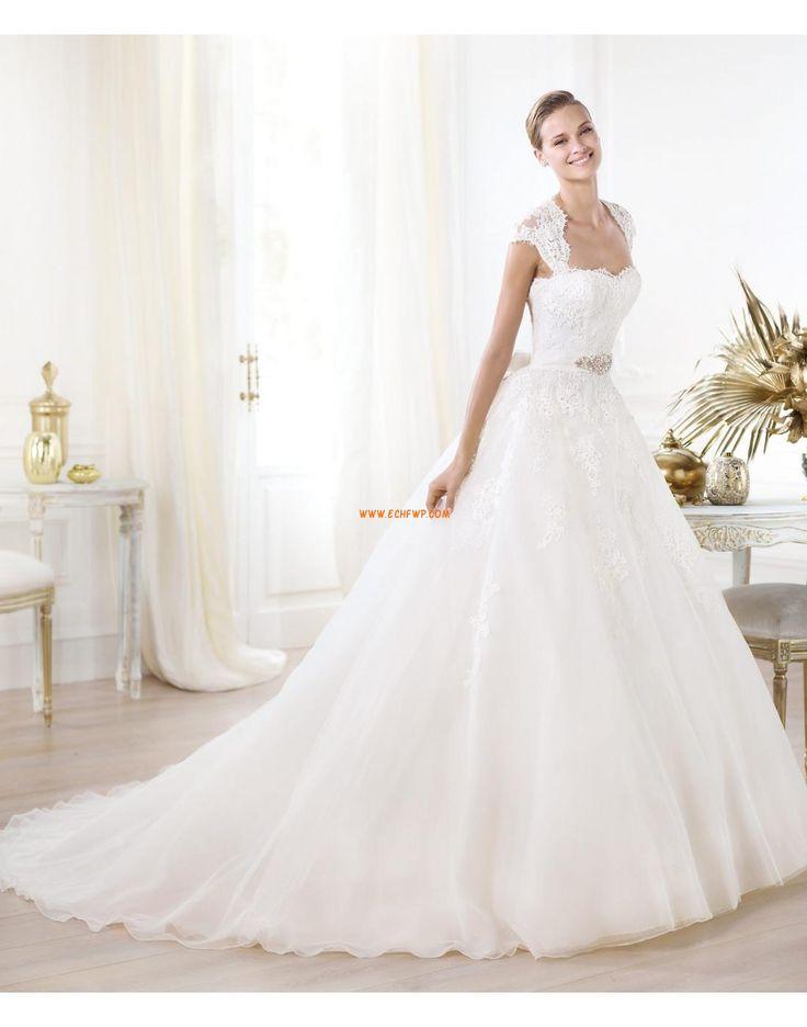 Princesové Elegantní & moderní Krátké rukávy Svatební šaty 2014