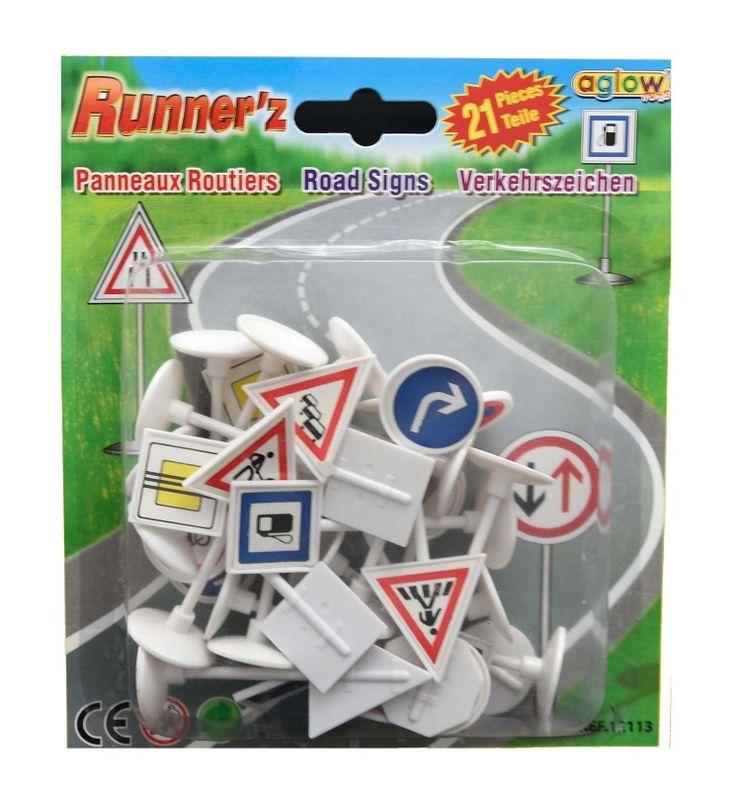 Sada plastových dopravních značek 21d   Didaktické, logické hračky  e-babyland