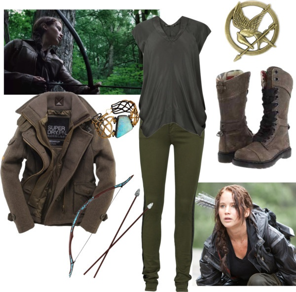 8 best katniss images on pinterest clothing apparel game of and diy katniss everdeen costume by missstevierae on polyvore solutioingenieria Image collections