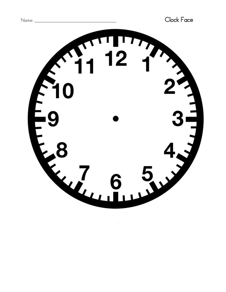 Blank Clock Template Printable   Activity Shelter