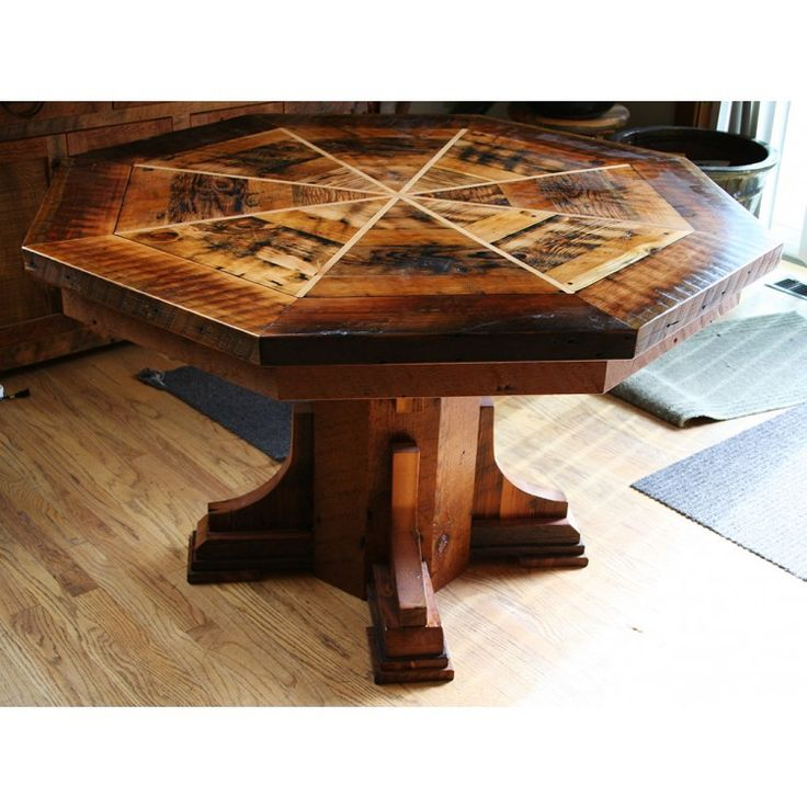 Captivating Country Roads Reclaimed Barnwood Dining Table