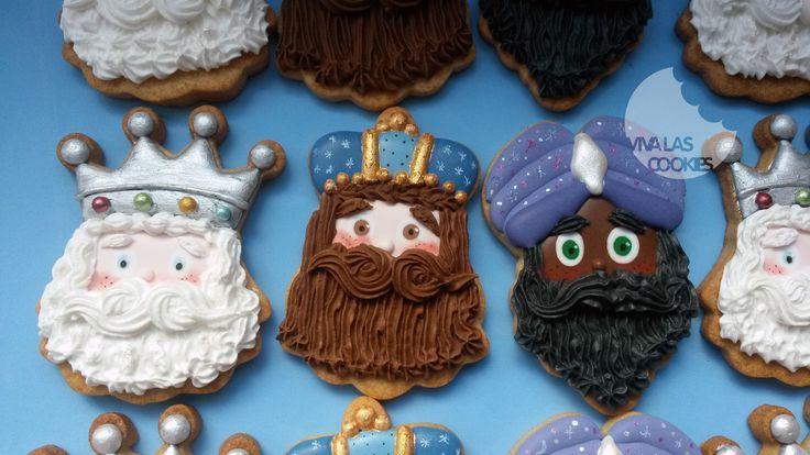 GALLETAS LOS 3 REYES MAGOS - THE 3 WISE KINGS COOKIES by www.vivalascookies.com