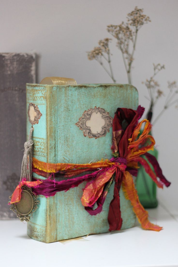Boho beach wedding guest book OR photo album tied with multicoloured rustic silk 9x6 inches - By Lotus Blu Book Art by LotusBluBookArt on Etsy https://www.etsy.com/listing/235175605/boho-beach-wedding-guest-book-or-photo