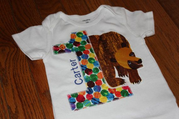 Brown Bear Birthday shirt  Boy or Girl  your by CelebrationKids, $22.00