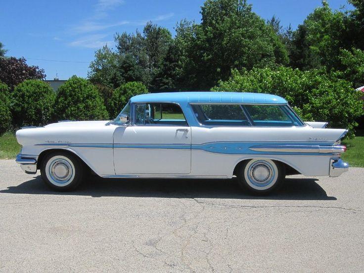 1957 Pontiac Star Chief Custom Safari 2 Door Wagon for