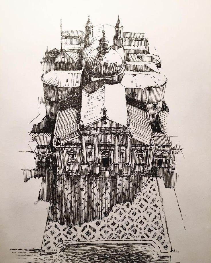 fitzillo: by markpoulierart — San Giorgio Maggiore #venice #venezia #dome…