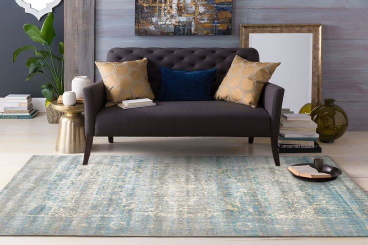 The Beliz Grey Blue Luxury Transitional Designer Rug is a stunning transitional rug for your home or office:
