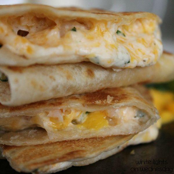Shrimp Mango Quesadillas | 6th Love Language. | Pinterest
