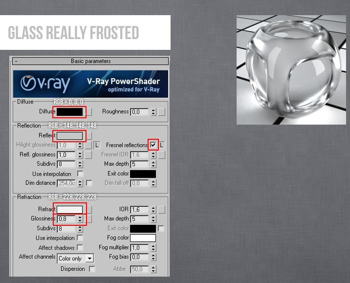 Vray Glass Really Frosted 3ds Max