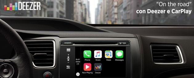 Deezer, the music streaming service, announced its new integration with Apple CarPlay. Now worldwide subscribers of Deezer Premium+ and Elite may have access to the Apple system with over 35 CarPlay Deezer million tracks with a simple app and specially designed. CarPlay provides access to various functions of the iPhone directly through the car multimedia