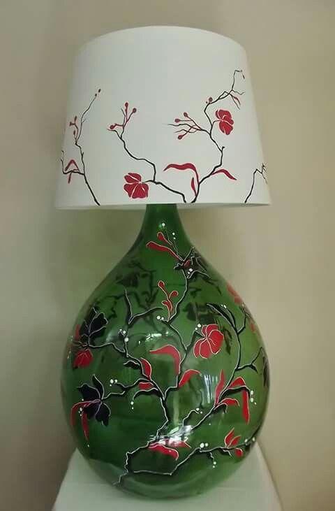 My abatjour. Handmade paint