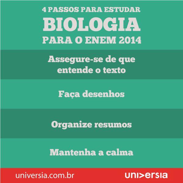 Infográfico: Aprenda a melhor forma de estudar biologia para o Enem 2014