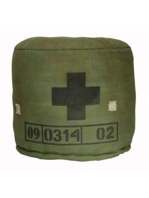 Poef+GESPOT+101woonideeën+1-12+en+Libelle+3-12+van+gerecyclede+leger+tenten+met+cijfers