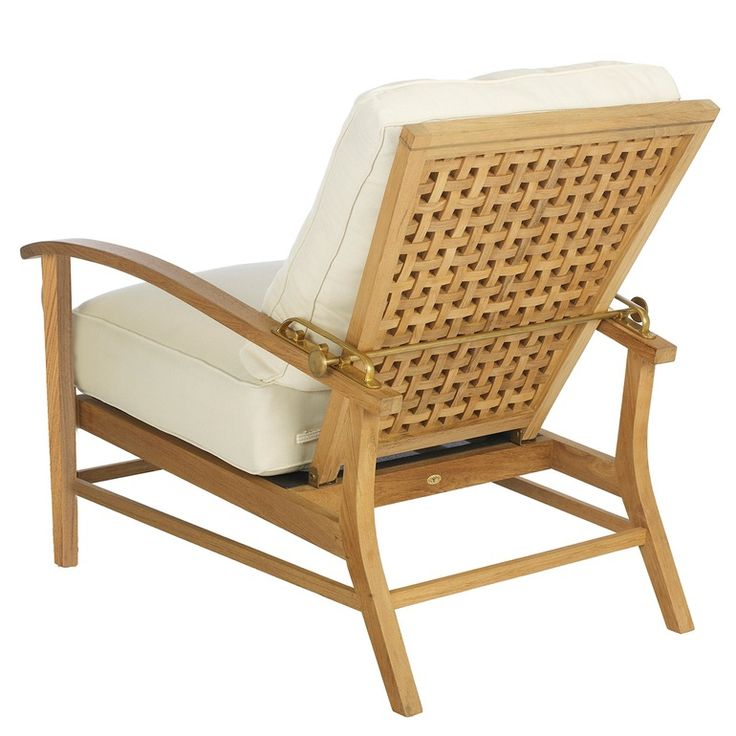 Ocean Teak Recliner - Transitional Lounge Chairs