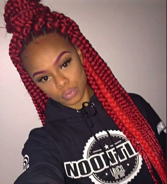 Pinterest J Adda Sc J Adda Red Box Braids Box Braids