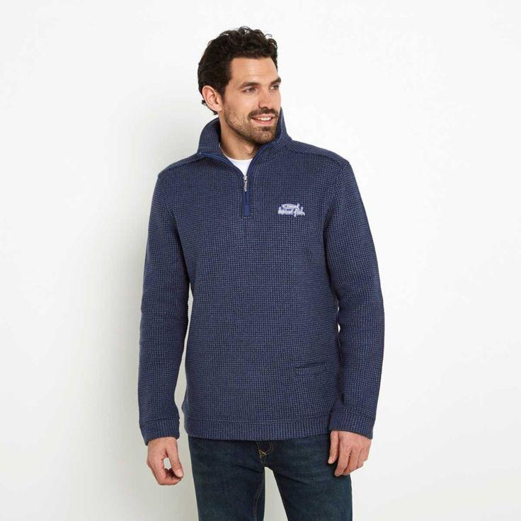 Weird Fish Heren Sweater Tindal - Vintage Blue