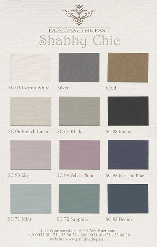 Colourcard Shabby Chic #Shabbychicbedrooms