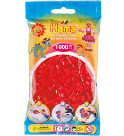 Hama Midi (väri 05) punainen 1000 kpl helmet - 1,50e