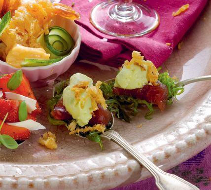 Gemarineerde tonijn met avocadocrème - Recept - Jumbo Supermarkten