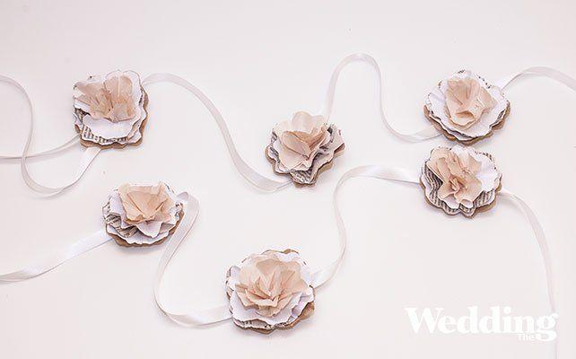 Мастер-класс: свадебная гирлянда из бумажных цветов своими руками