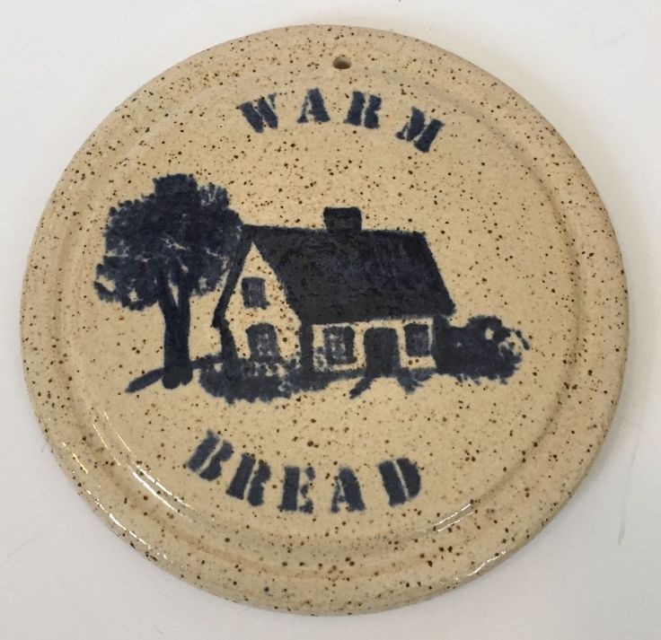 Round Rustic Farmhouse Trivet Bread Warmer Country Decor Hesperus Pottery  #HesperusPottery