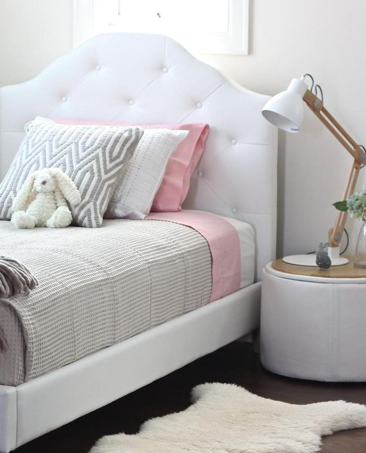 Mia Single White Upholstered Bed