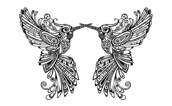 Hummingbird t-shirt by Johanna Basford | kleurplaten voor ...