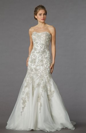 Danielle Caprese - Strapless Mermaid Gown in Beaded Embroidery