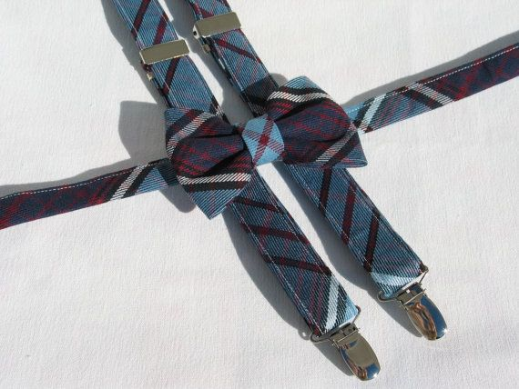 Royal Canadian Air Force Tartan Suspenders and by dolldressedup