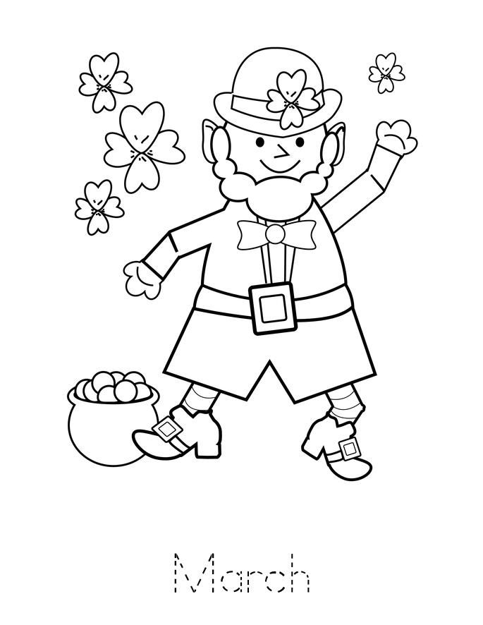 Months Book Twisty Noodle St Patrick Day Activities Happy St Patricks Day Coloring Pages