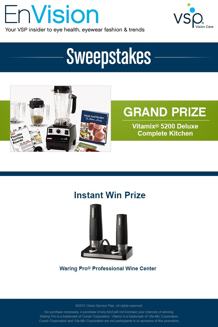 enter for your chance to win a weighted enter vsp s envision sweepstakes today for your chance to