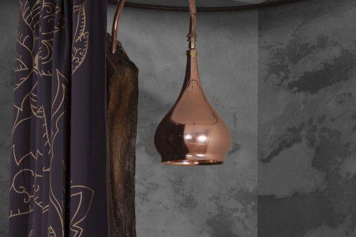Bulbous copper shower head