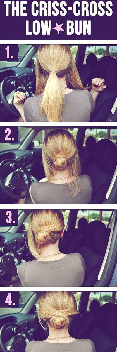 lazy-girl-hacks-easy-criss-cross-bun-how-to