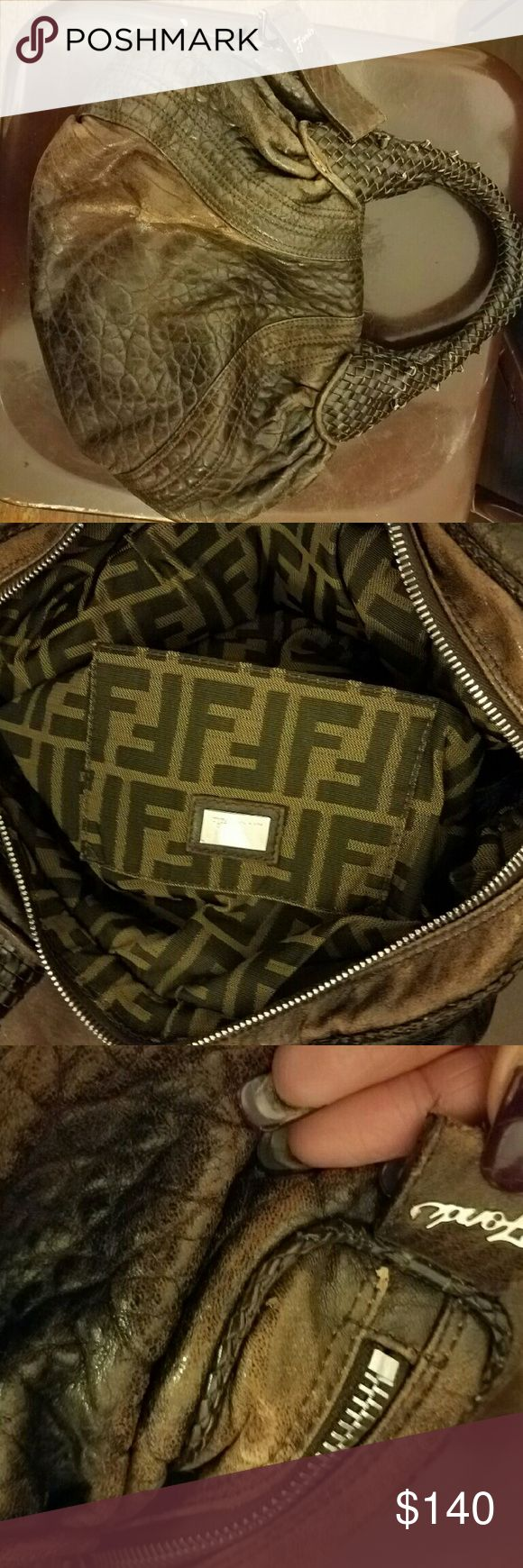 fendi small spy bag authentic used fendi spy bag has a few tears near handle  but not that noticeable in last pic Fendi Bags Hobos
