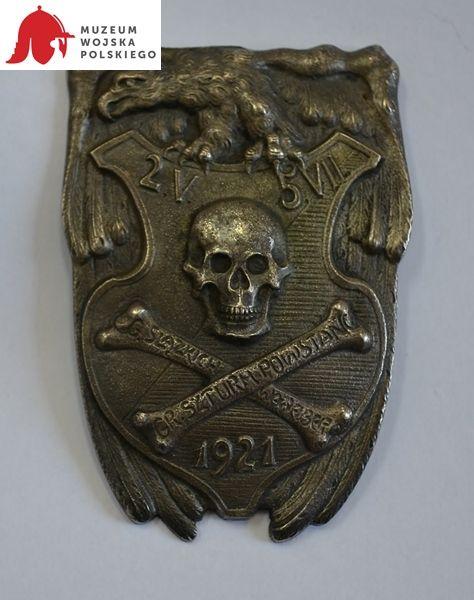 Odznaka pamiątkowa Grupy Szturmowej Konrada Wawelberga (l. 20. XX w.).