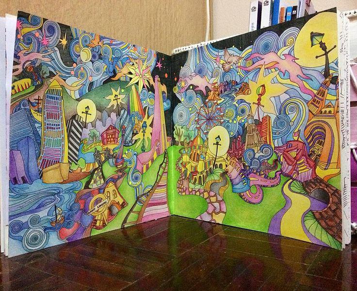 Magic City Adult Coloring Books Colour Book Color Palettes Colouring In Vintage Pallets