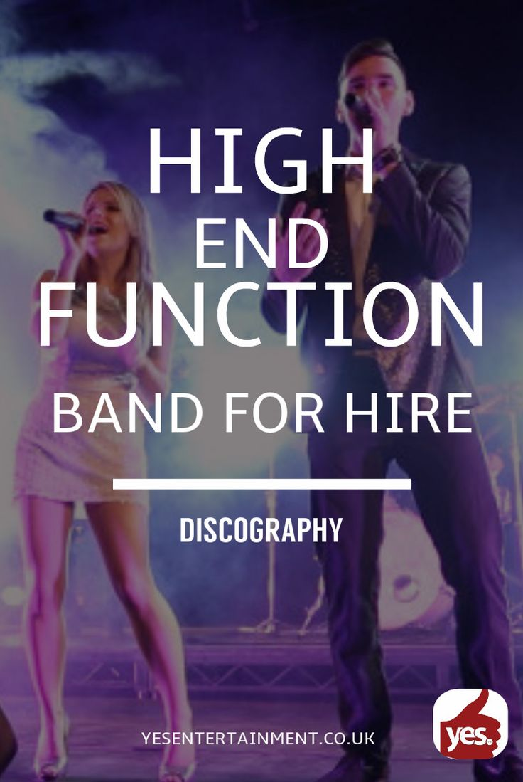 Planning a high end event? Hire a function band to match!  Discography is a high end function band for hire with an incredible line-up of the UK's finest talent. With line up options from 6 piece to 13 piece this band will perfectly perform creative arrangements of party classics with their own unique performance factor on top.  https://goo.gl/38LCYW