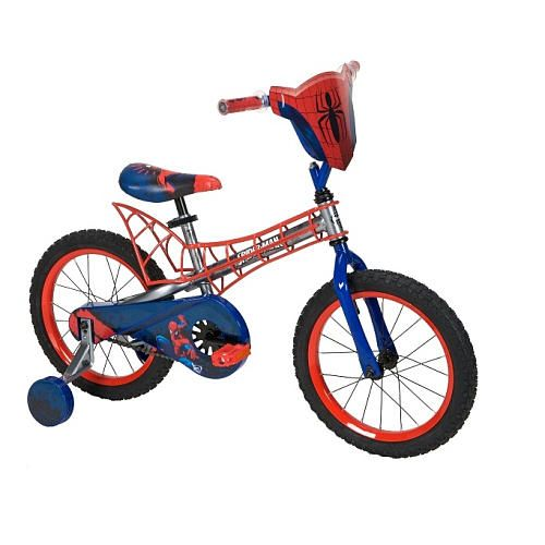 Quite the ride!! Boys' 16 Inch Spider-Man Bike with Webbed Frame #TRUMovieHQ
